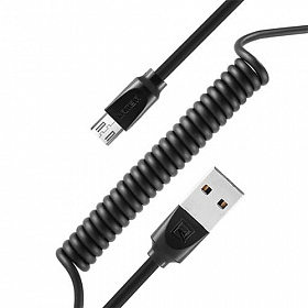 Витой кабель USB Remax RC-117m Micro-USB Black 1m 2.4A