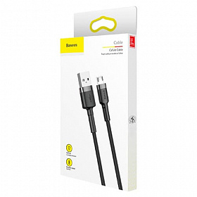 Baseus cafule Cable USB For Micro 2.4A 1M Gray+Black