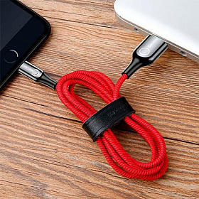 Baseus C-shaped Light Intelligent power-off Cable 1M Red